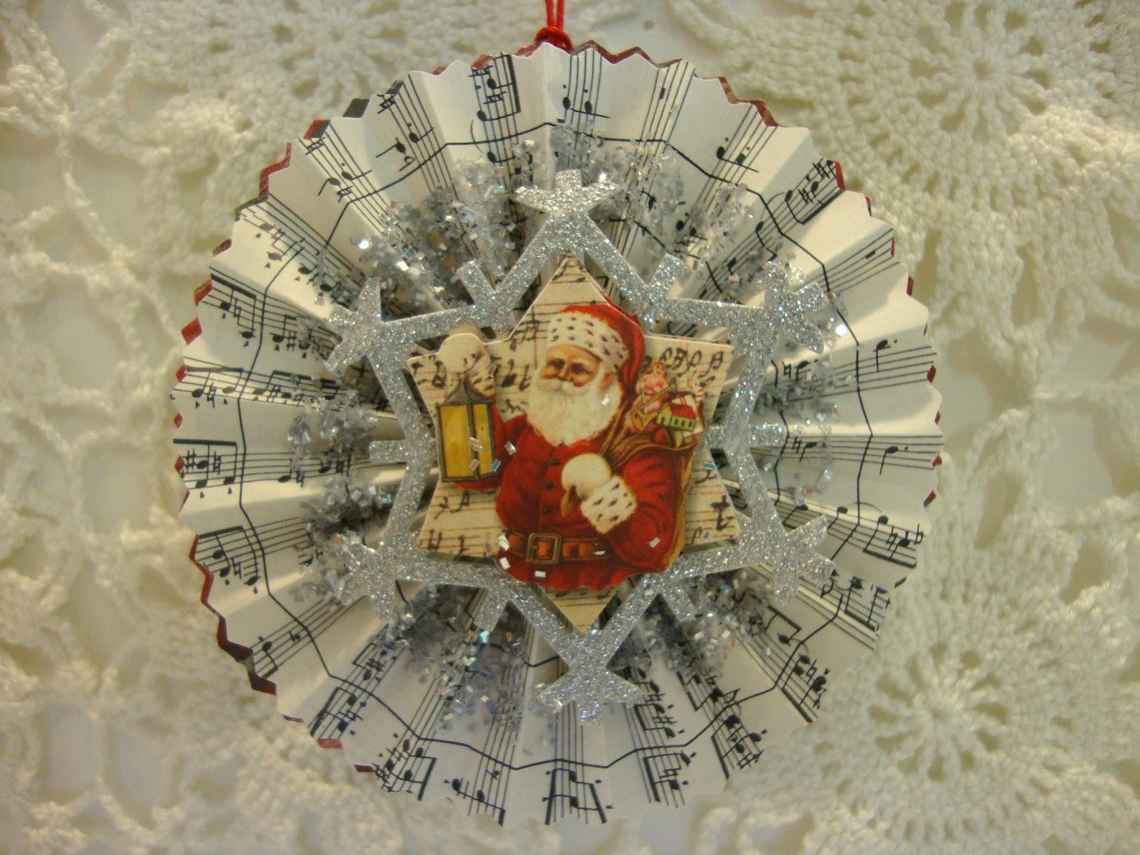 Shabby tea party more paper handmade christmas ornaments