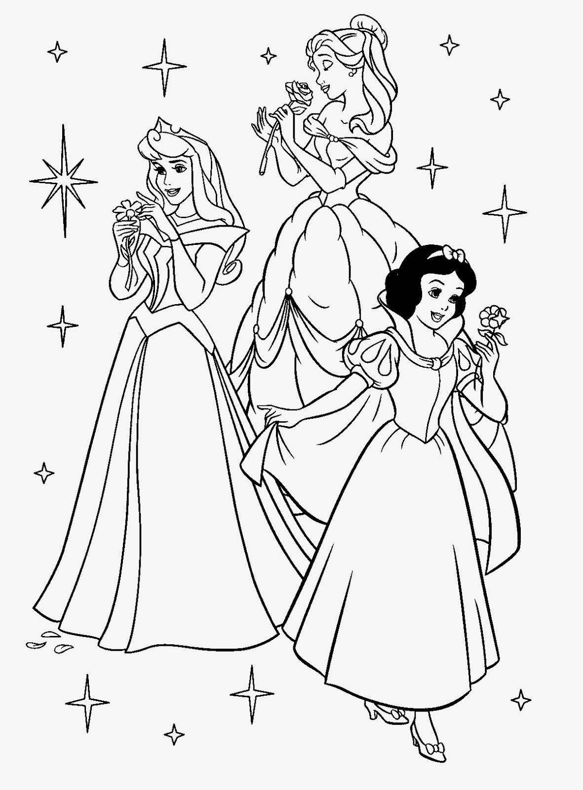 trio disney princess coloring pages butterfly