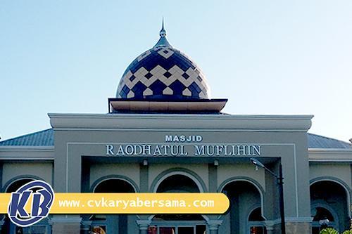 contoh kubah masjid moderen