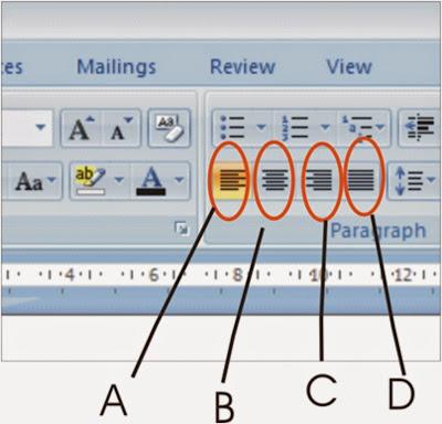 pengaturan rata kanan. rata kiri, rata tengah, dan rata kanan kiri dalam microsoft word