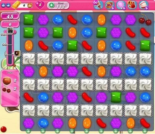 Nivel 112 de Candy Crush Saga