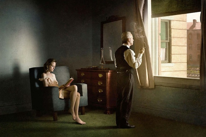 Richard Tuschman. Hopper Meditation, Hotel By Railroad, 2012
