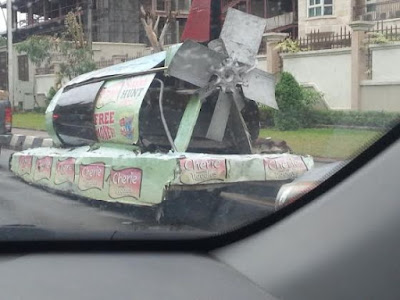 MeanWhile This Nigerian Made Flying Car Was Spotted In Lagos
