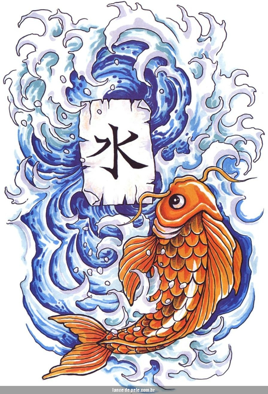 Tatuagens masculinas tatuagem de carpa tattoo de carpas for Pictures of japanese koi fish