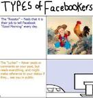 Types of Facebookers, types of people on  facebook