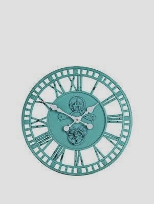 Aqua Industrial Wall Clock from Littlewoods