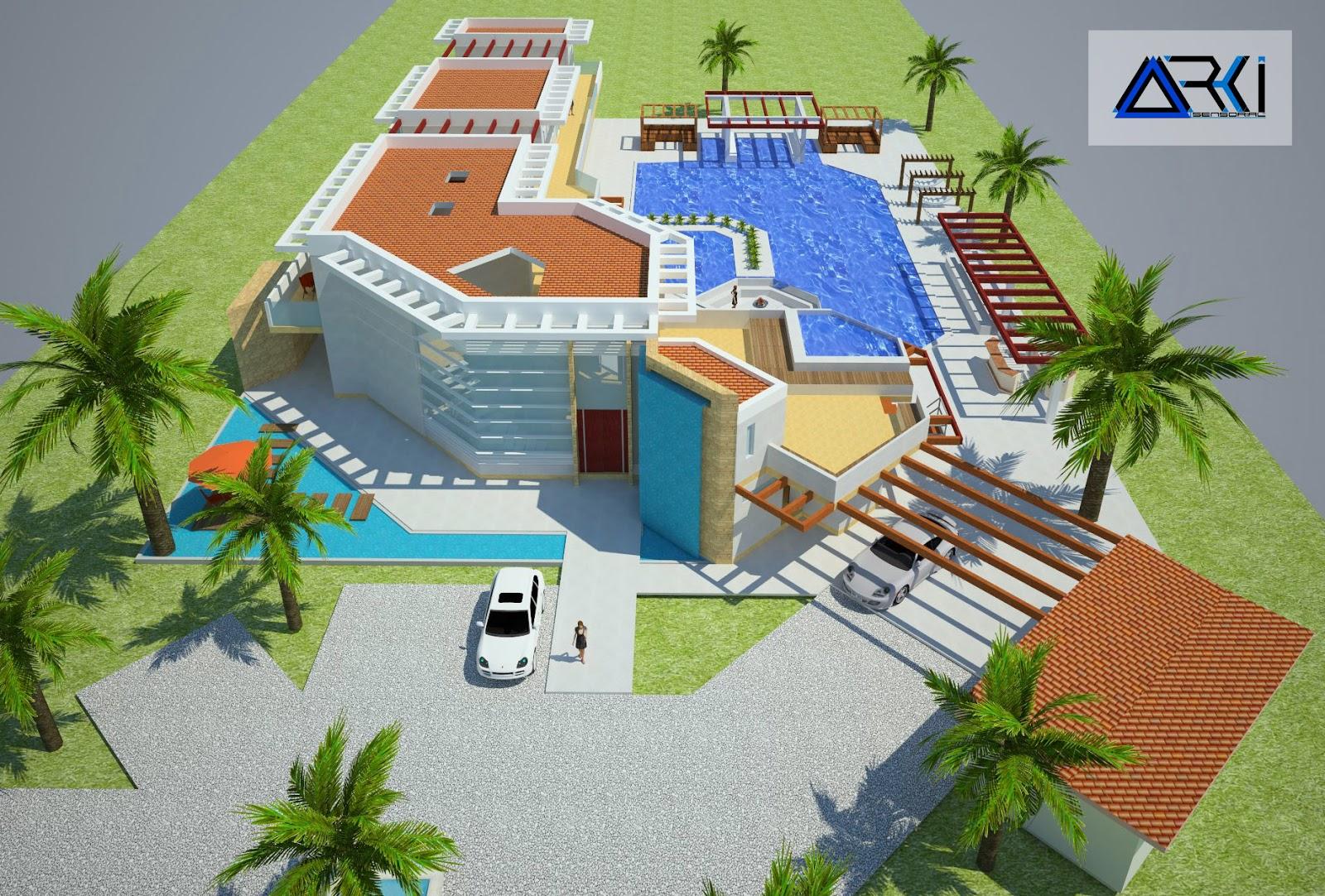 Proyecto arquitect nico final planos detalles y maqueta for Diseno y construccion de piscinas en colombia