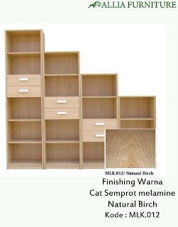 Contoh Furniture Semprot Melamine Natural Birch