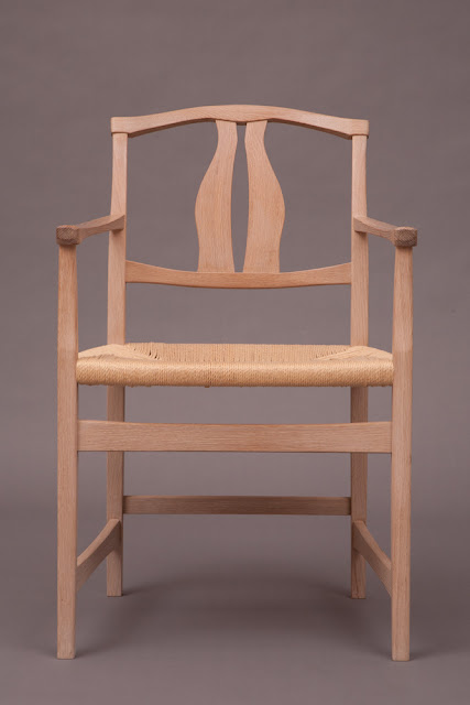 Killscrow, Darrick Rasmussen. Vidar Chair. White Oak and Danish cord 2012
