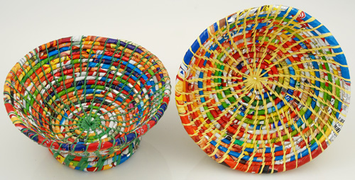 Discarded Plastic Candy Wrappers Bowl