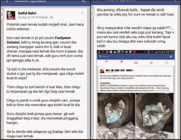 Kisah Sebenar Nasi Lemak Yang Viral Di Media Sosial