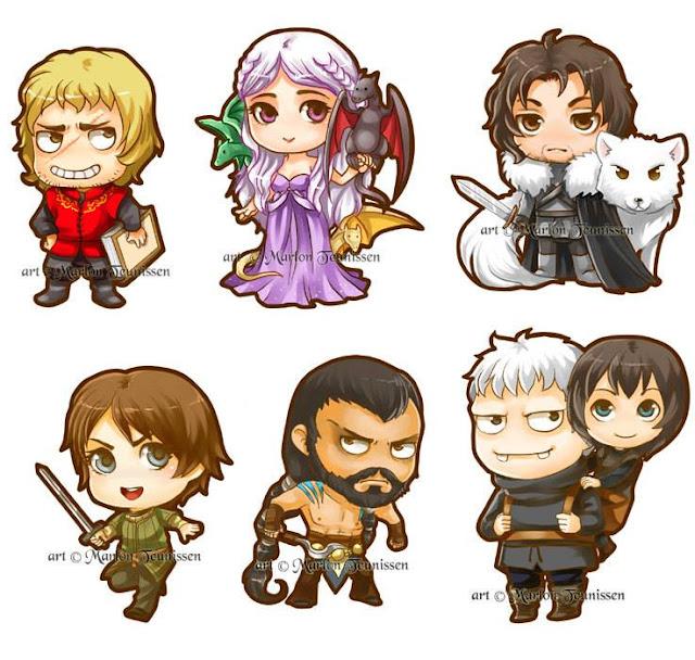 dibujillos personajes juego de tronos - Juego de Tronos en los siete reinos