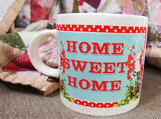 crafty, quilt, home sweet home, coffee mug