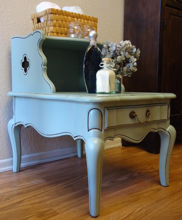 Grandma's Side Table Repurposed-SOLD