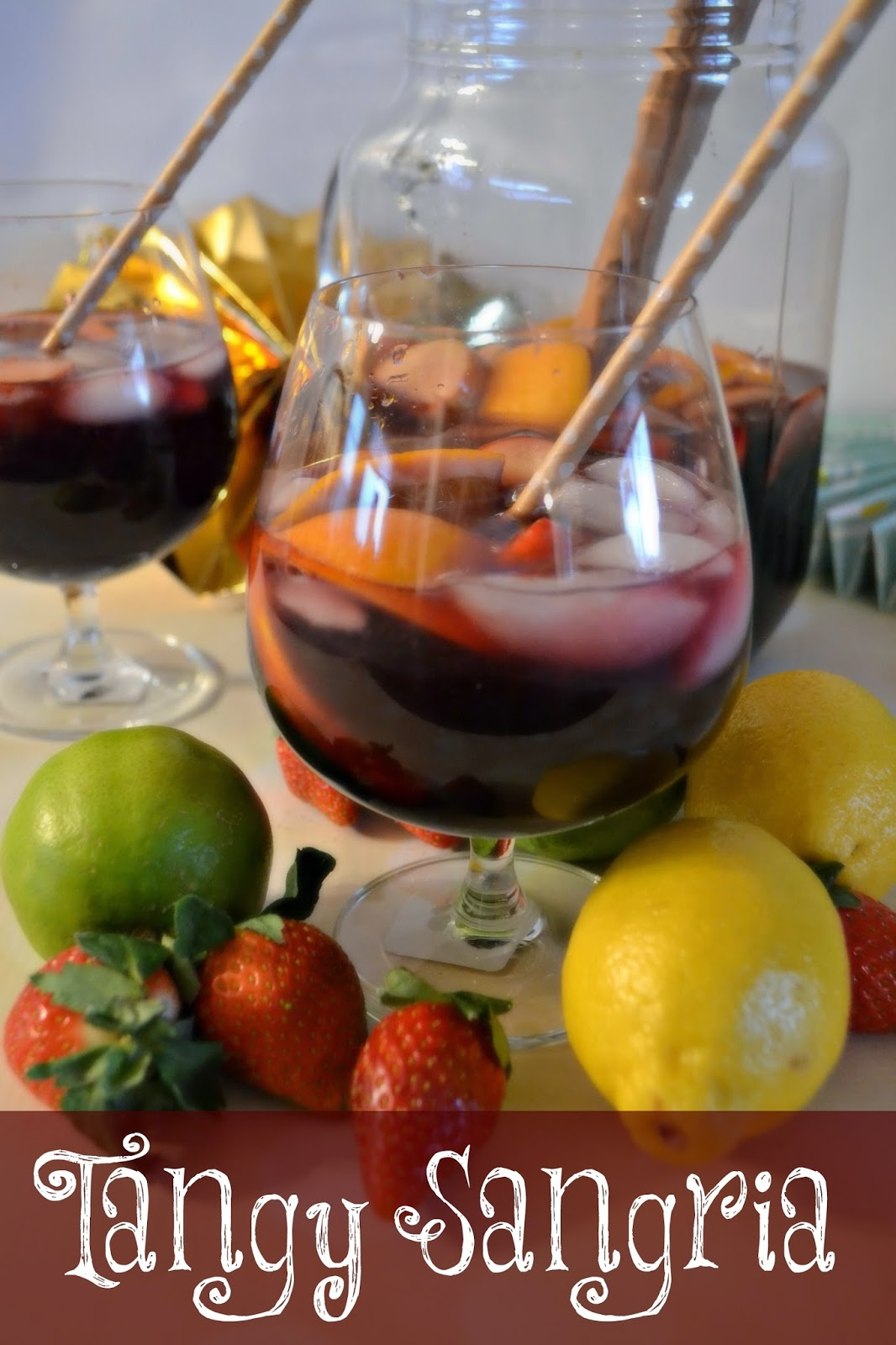 Tangy Sangria #Recipe - Delicious Party Food holiday party recipes, delicious party food, party food tips Sangria Recipe.  Easy Sangria drink recipes.  Berry Sangria