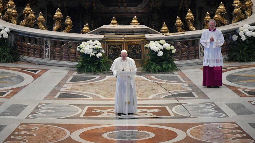 MENSAGEM URBI ET ORBI DO PAPA FRANCISCO  PÁSCOA 2020  Basílica Vaticana Domingo, 12 de abril de 202