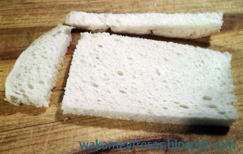 cortamos los bordes del pan