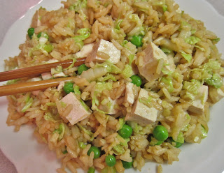 The Vegan Chronicle: Tofu Fried Rice with Cabbage