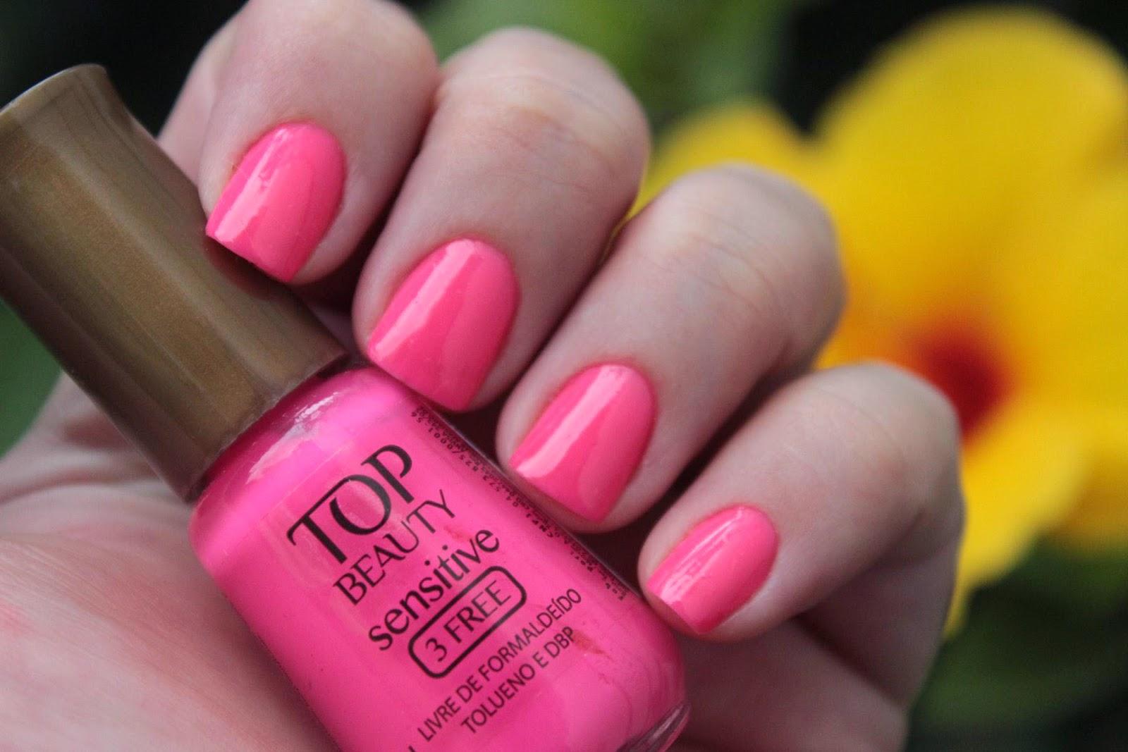 mão feita, esmalte, top beauty, pink, neon, rosa, nailpolish, 3free, hipoalergênico