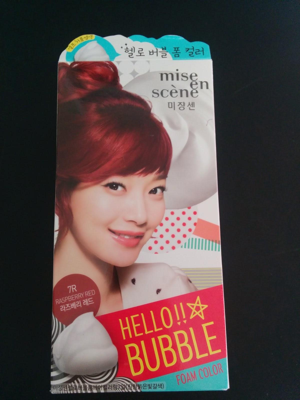 Put Your Make Up On Mise En Scene Hello Bubble Foam Colour