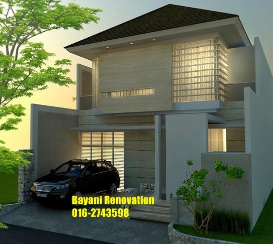 design rumah semi d moden nan elegan bayani home renovation