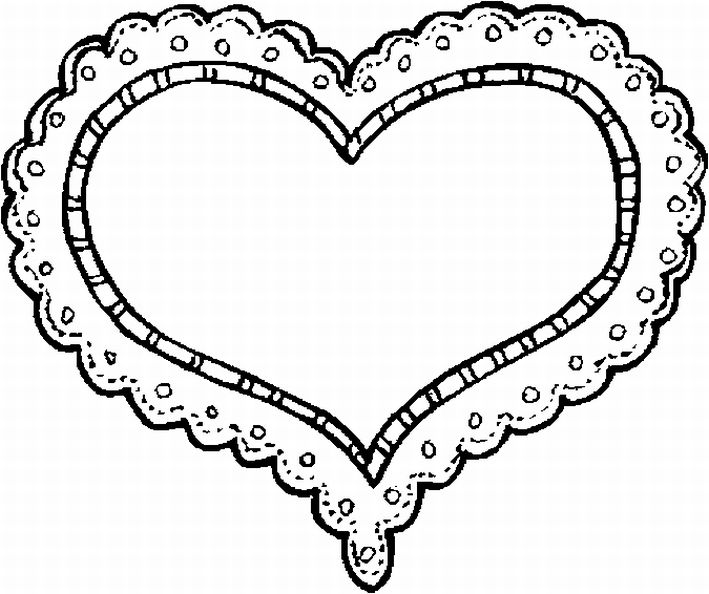 Lace heart coloring pages