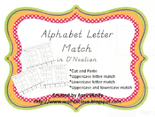 Alphabet Letter Match TPT photo