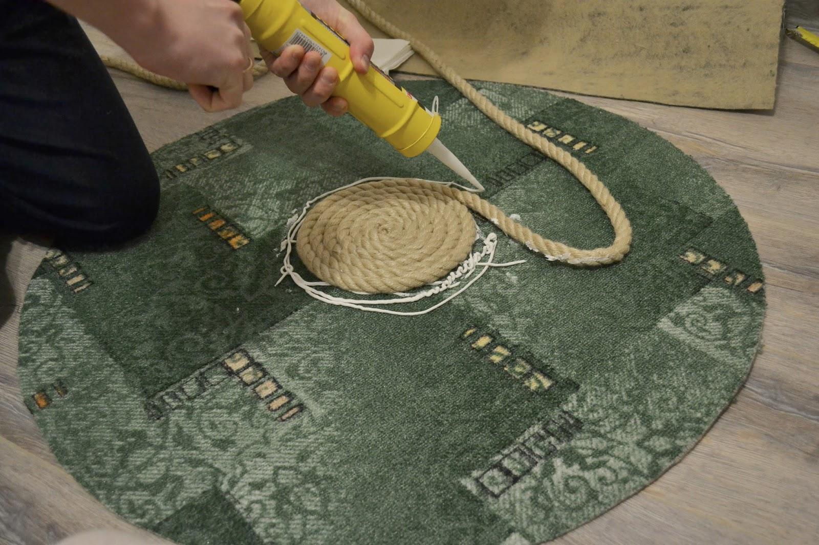 Верёвочный коврик своими руками 14