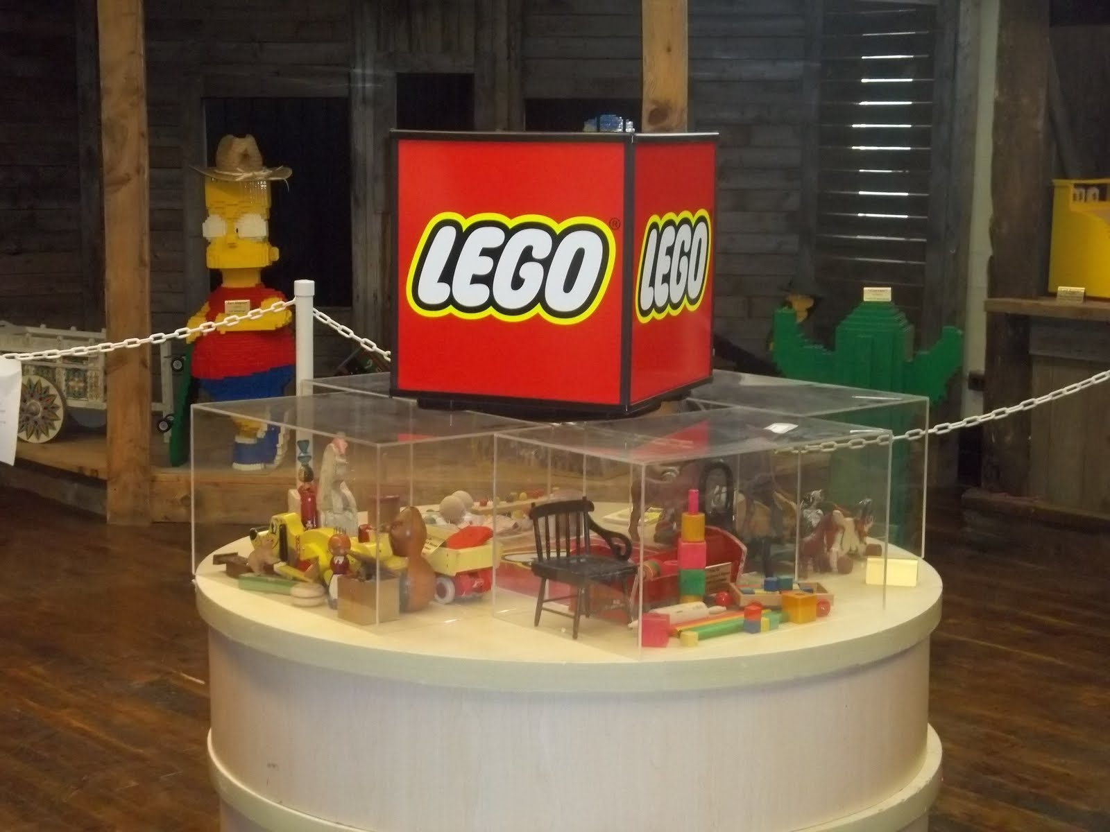 Wooden LEGO Toys on display!