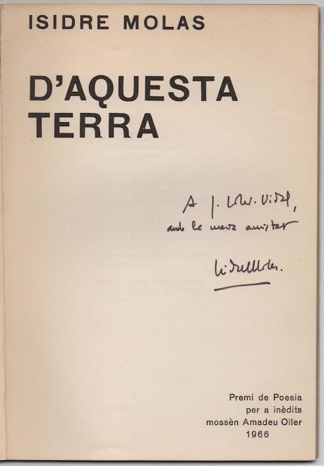 d'Aquesta Terra, 1966 (poemes)