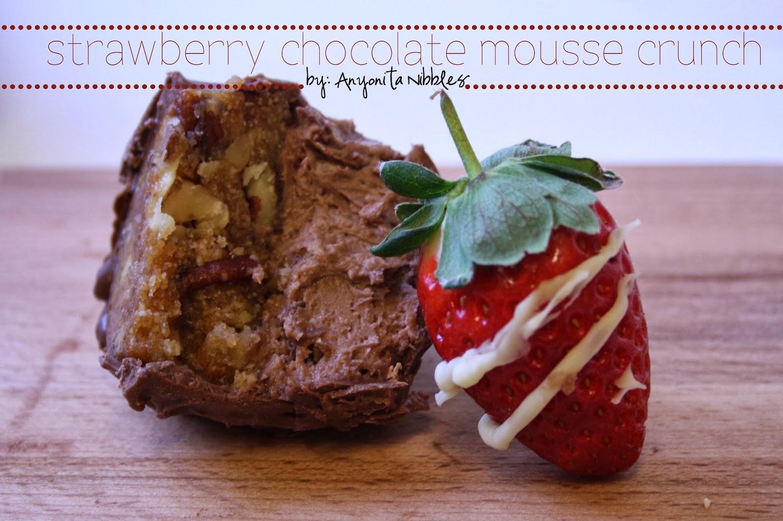 Strawberry Chocolate Mousse Crunch Gluten Free Dessert for Valentine's Day