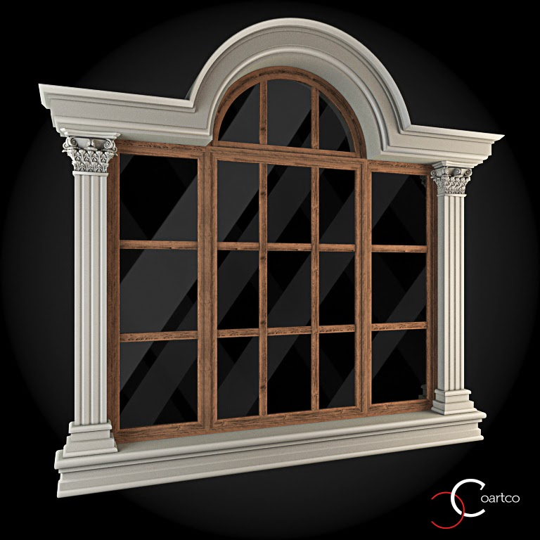 Ornamente Geamuri Exterior, Arcada ,fatade case cu profile decorative polistiren, profile fatada,  Model Cod: WIN-066
