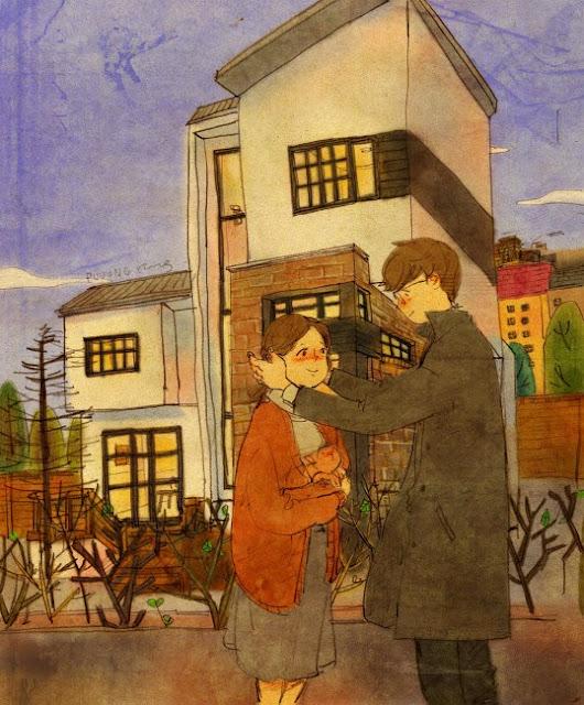 état amoureux et l'amour la différence illustration artiste coréen Puuug