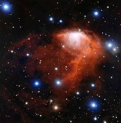 Туманность RCW 34 на новом фото Очень Большого Телескопа