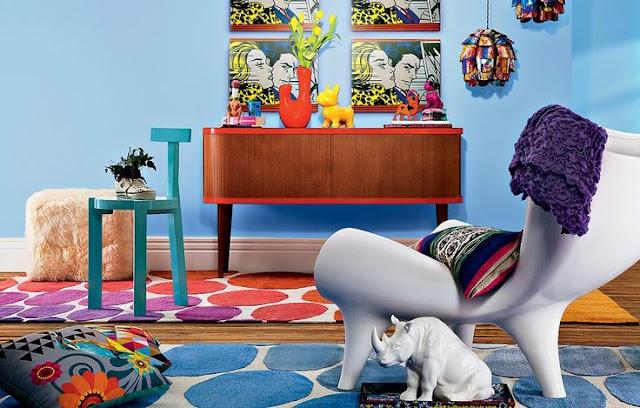 sala colorida e inspiradora