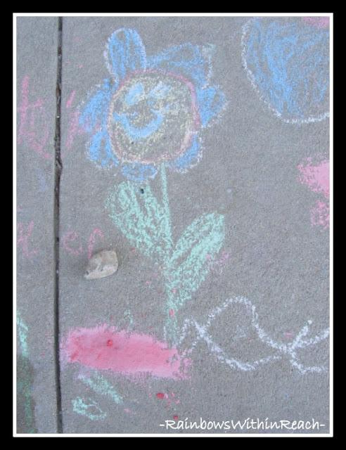 photo of: Sidewalk Chalk as Art Material for Children