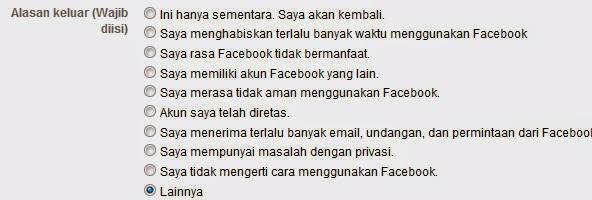 cara menghapus akun facebook secara permananen