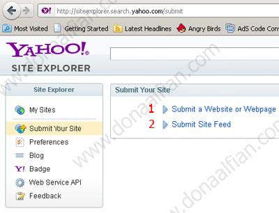 Cara terindex Yahoo dan Bing untuk Blogger - Blogspot