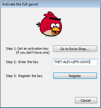 Angry birds rio v122 download links and guide mrothniel blog launch angry birds rio at your desktop once open select activate full version a box will pop up thecheapjerseys Images