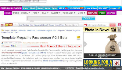 Cara Membuat Tombol Share Infogue.com Di Blog