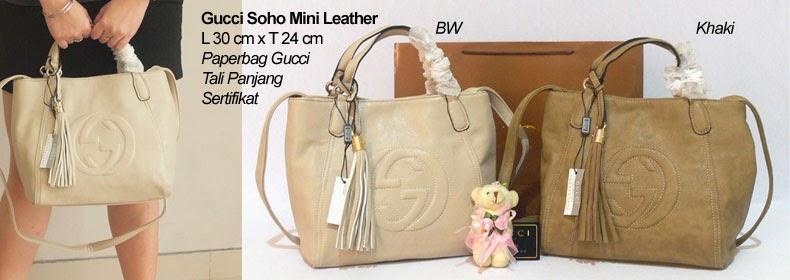 Tas Wanita Gucci Soho Mini Leather, Murah Dan Bagus