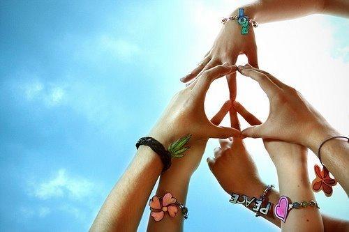 simbolos de amor y paz. simbolo da paz e amor