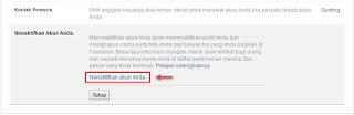 me non aktifkan akun facebook sendiri