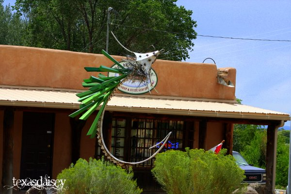 Huge Fishing Lure Sculpture Taos New Mexico