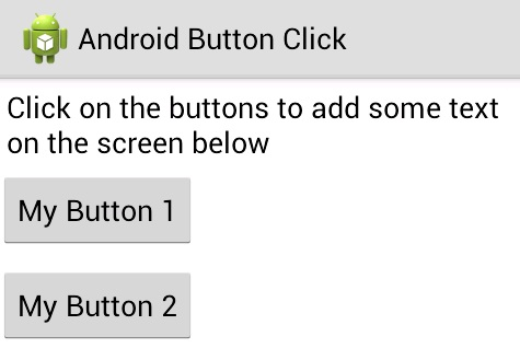 android button onclick example