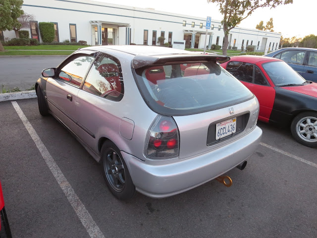 Honda Civic hatchback before color change