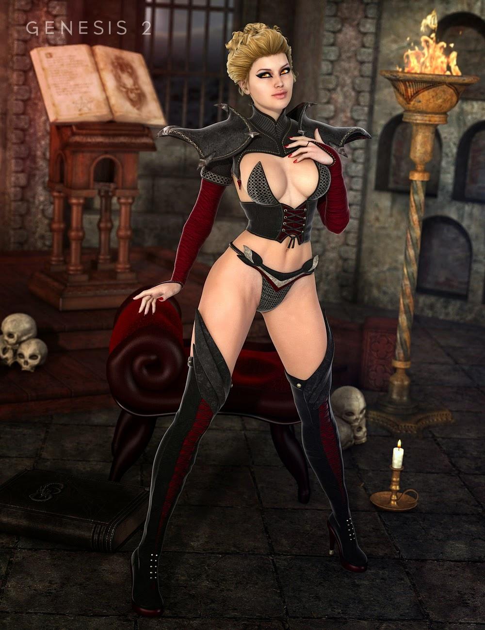 Lilim Outfit pour Genesis 2 Femme