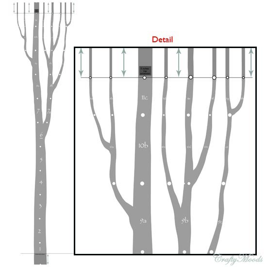 Crafts for home decor diy tree wall decal free for Large tree template for wall