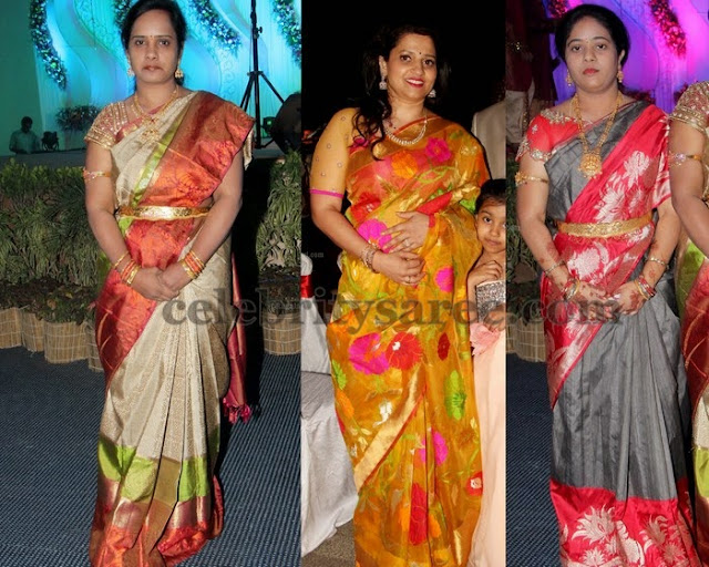 Pretty Ladies in Uppada Bridal Sarees