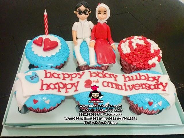 Cupcake Romantis Untuk Ulang Tahun Suami